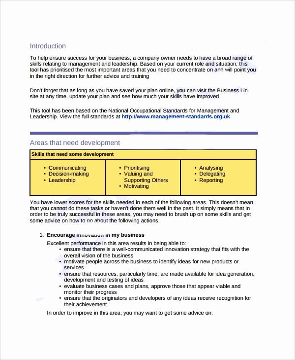 Business Development Plan Template Inspirational Sample Business Development Plan Template 6 Free