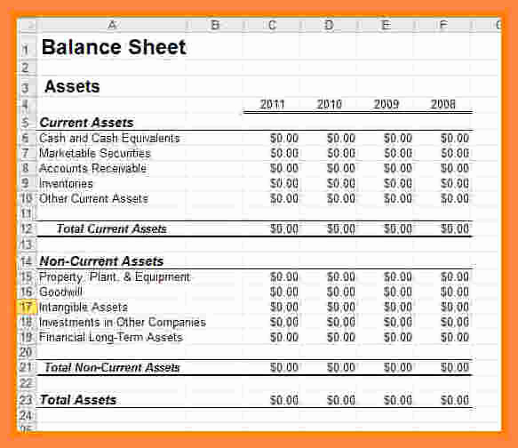 8 business financial statement template excel
