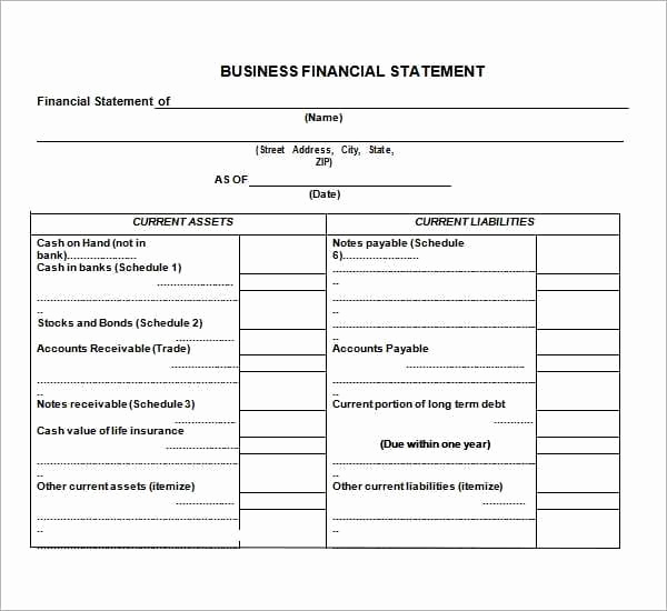 Business Financial Statement Template Lovely 8 Free Financial Statement Templates Word Excel Sheet Pdf