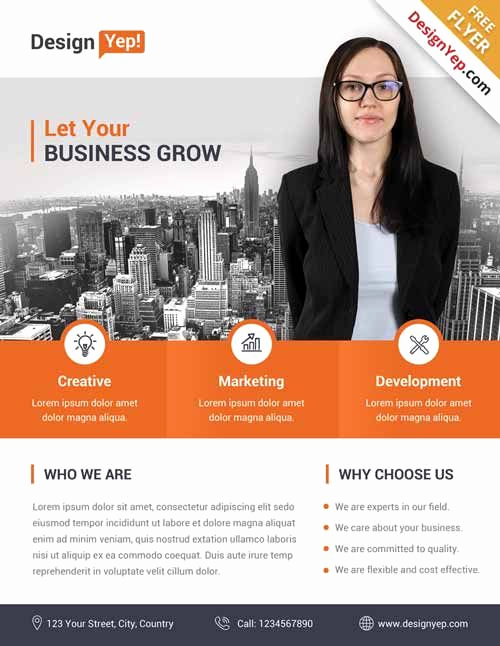 Business Flyer Templates Free Best Of Corporate Business Free Flyer Psd Template