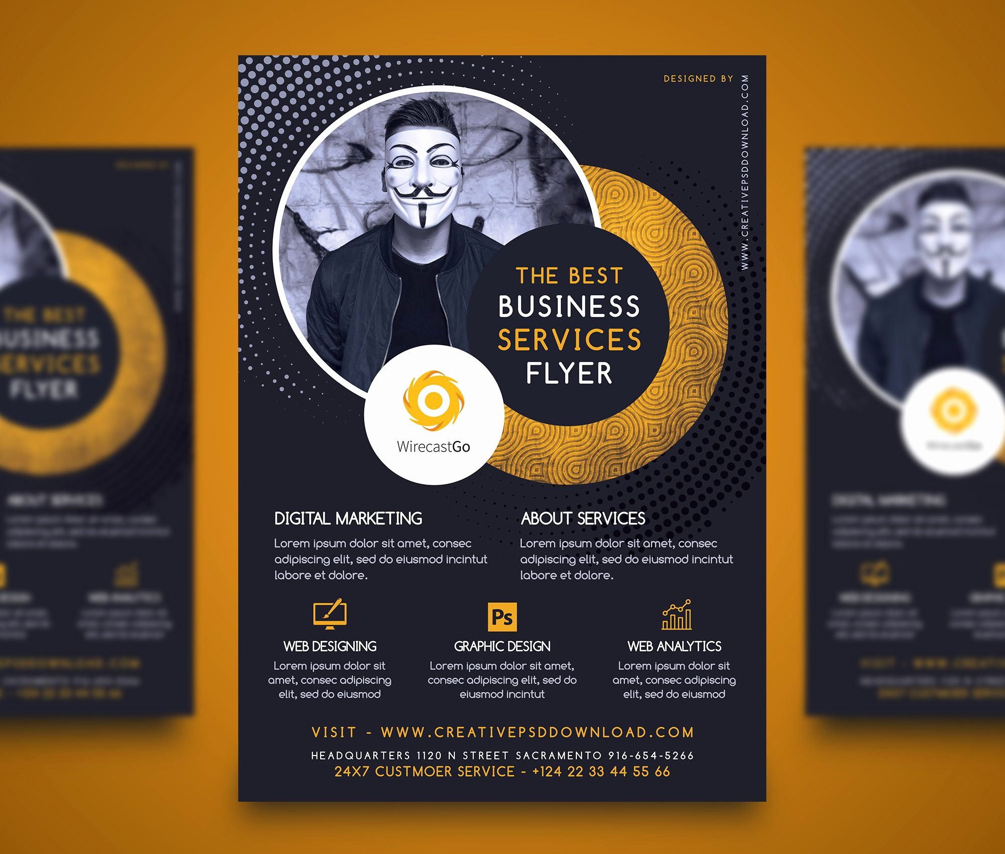 Business Flyer Templates Free Best Of Professional Pany Services Flyer Free Psd