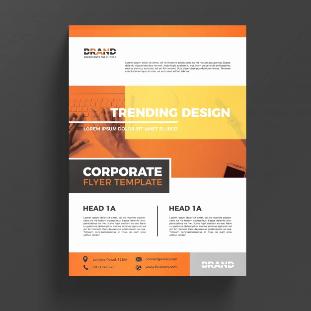 Business Flyer Templates Free Inspirational orange Corporate Business Flyer Template Psd File
