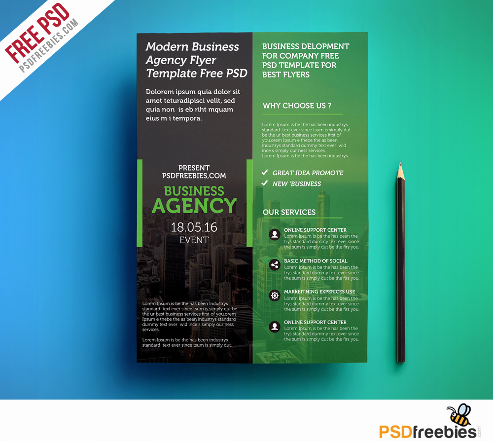 Business Flyer Templates Free Lovely Modern Business Agency Flyer Template Free Psd