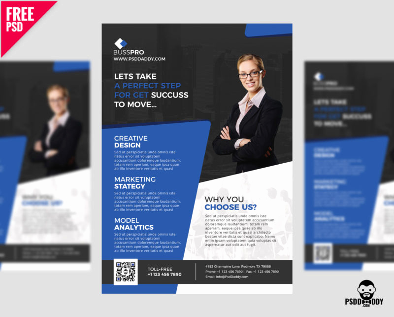 Business Flyer Templates Free New Business Flyer Template Free Psd – Psddaddy