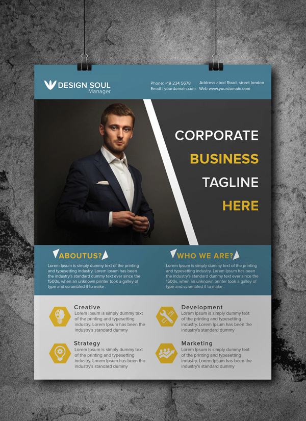 Business Flyer Templates Free New Free Corporate Business Flyer Psd Template