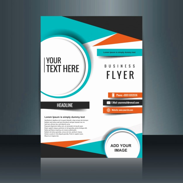 Business Flyers Template Free Awesome Business Flyer Template with Geometric Shapes Vector