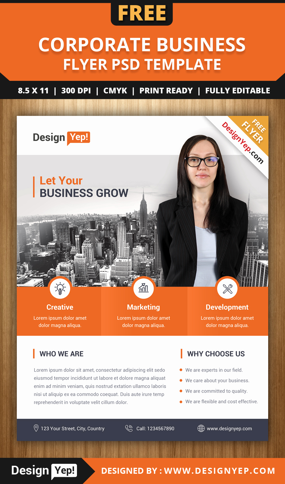 Business Flyers Template Free Beautiful Free Corporate Business Flyer Psd Template Designyep
