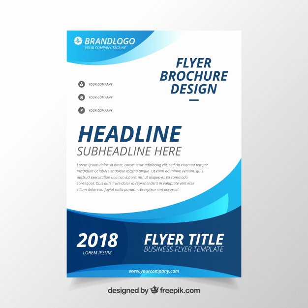 Business Flyers Template Free Lovely Modern Wavy Business Brochure Template Vector