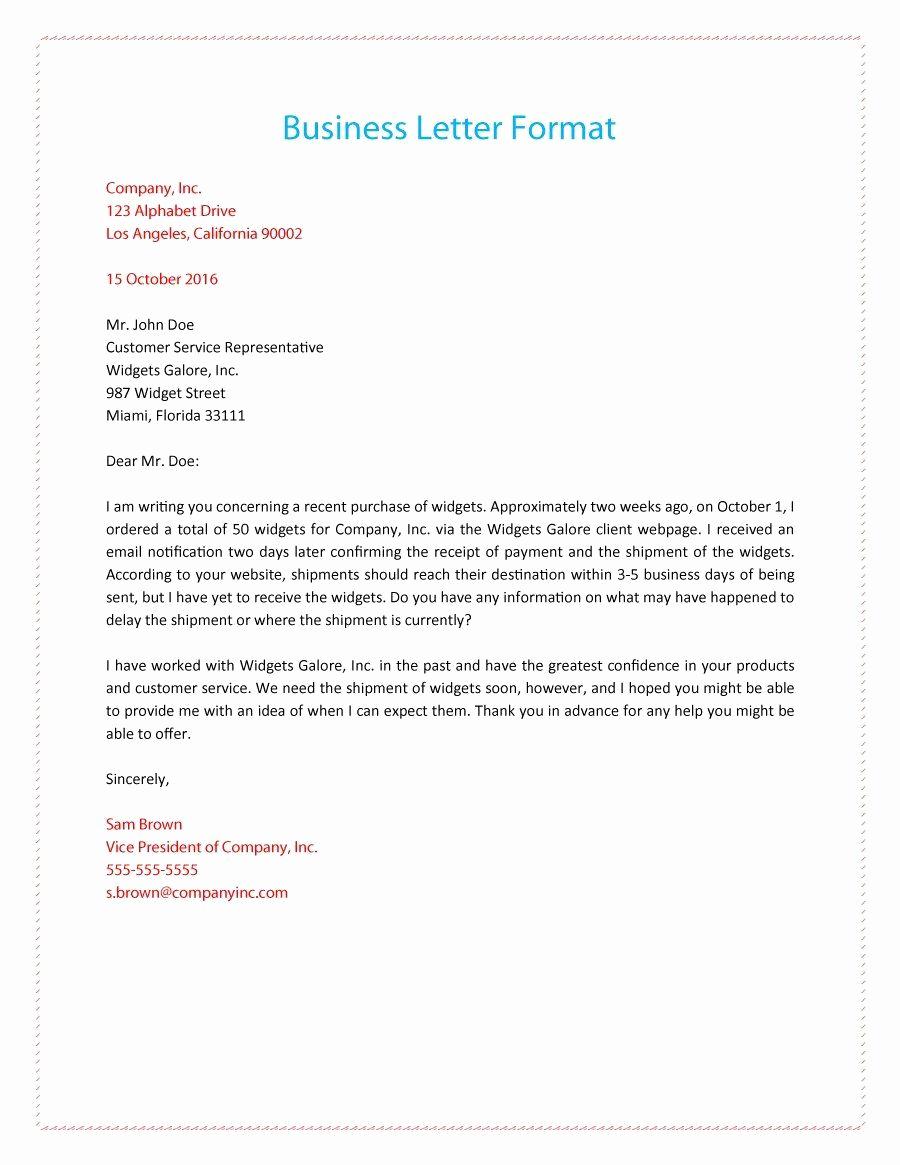 Business Letter Sample Pdf Elegant formal Business Letter 01 Business Letter