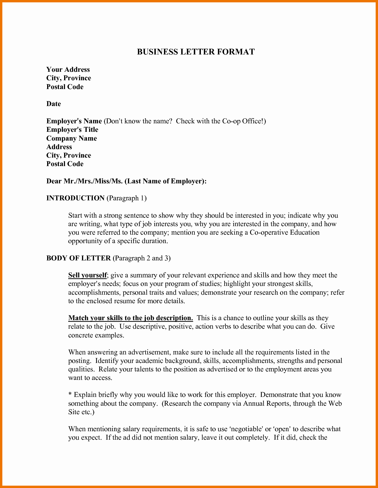 Business Letter Sample Pdf Elegant formal Letter Writing Pdf