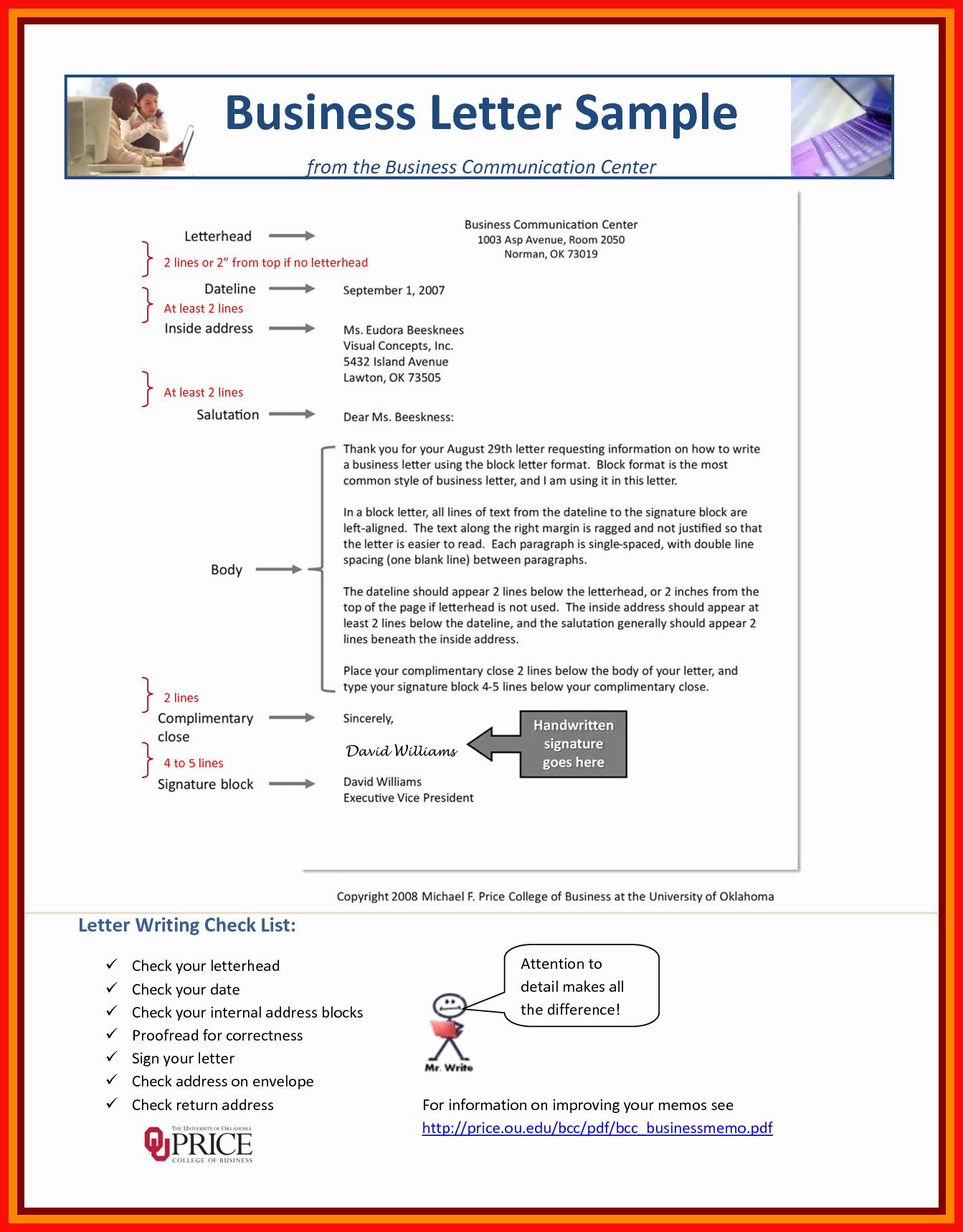 Business Letter Sample Pdf Lovely Sample Business Letter Pdf