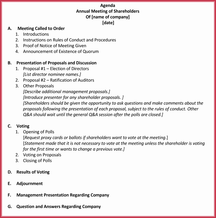 Business Meeting Agenda Template Best Of Business Meeting Agenda Templates 9 Best Samples In Pdf