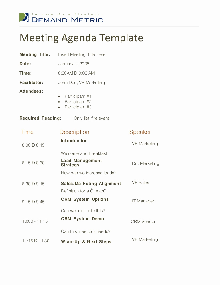Business Meeting Agenda Template Best Of Meeting Agenda Template