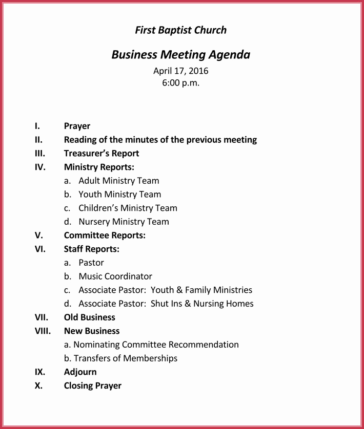 Business Meeting Agenda Template Inspirational Business Meeting Agenda Templates 9 Best Samples In Pdf