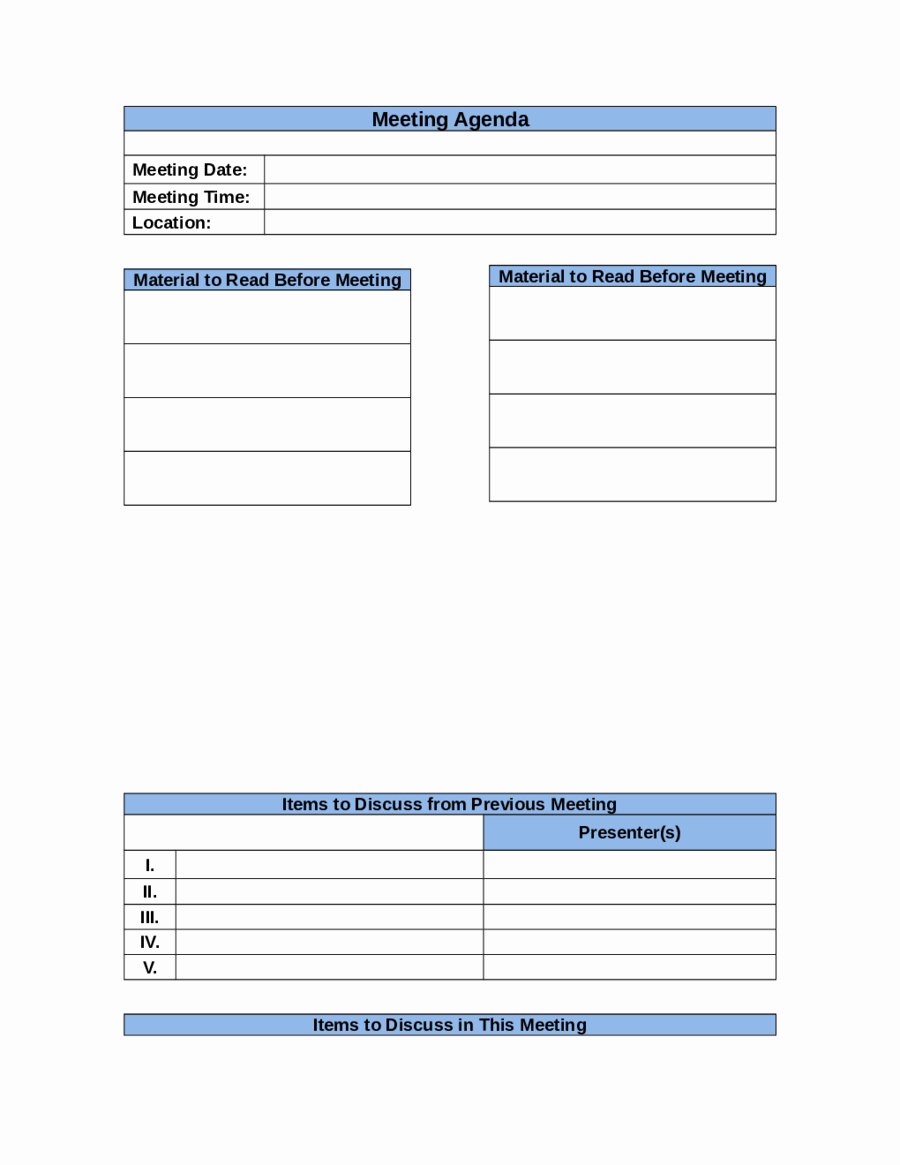 Business Meeting Agenda Template Unique 2019 Meeting Agenda Template Fillable Printable Pdf