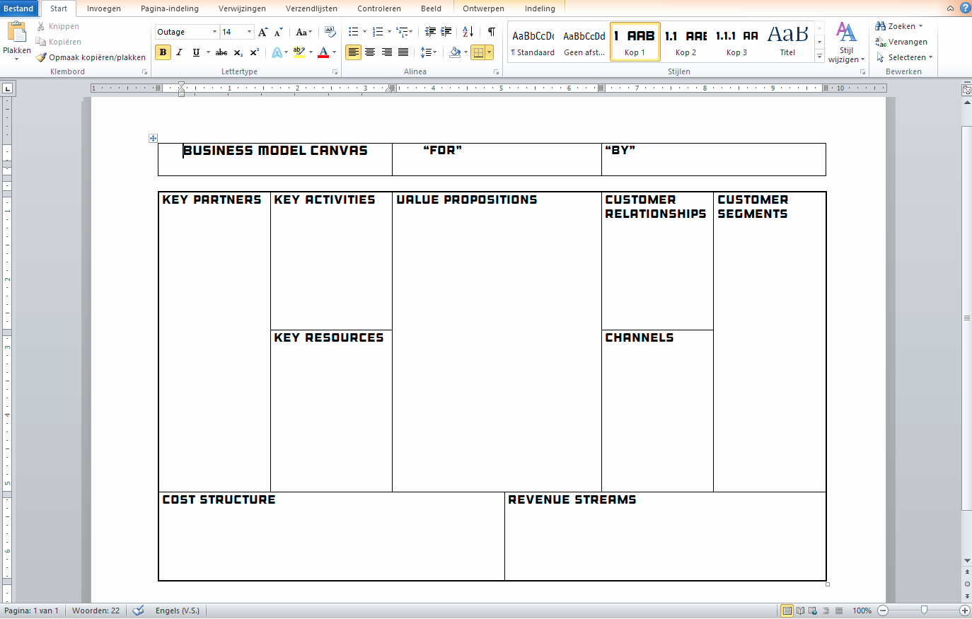 Business Model Canvas Template Word Best Of Business Model Canvas Template