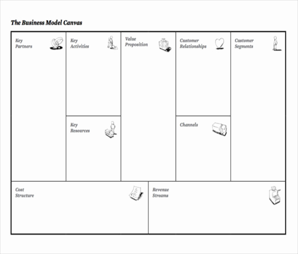Business Model Canvas Template Word Inspirational 20 Business Model Canvas Template Pdf Doc Ppt
