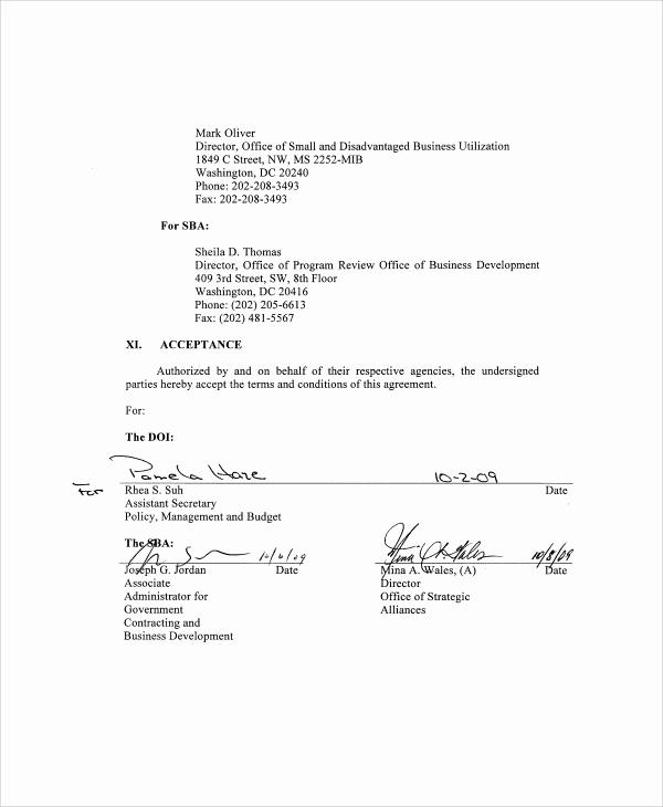 Business Partnership Agreement Template Fresh 7 Business Partnership Agreement Samples Examples Templates