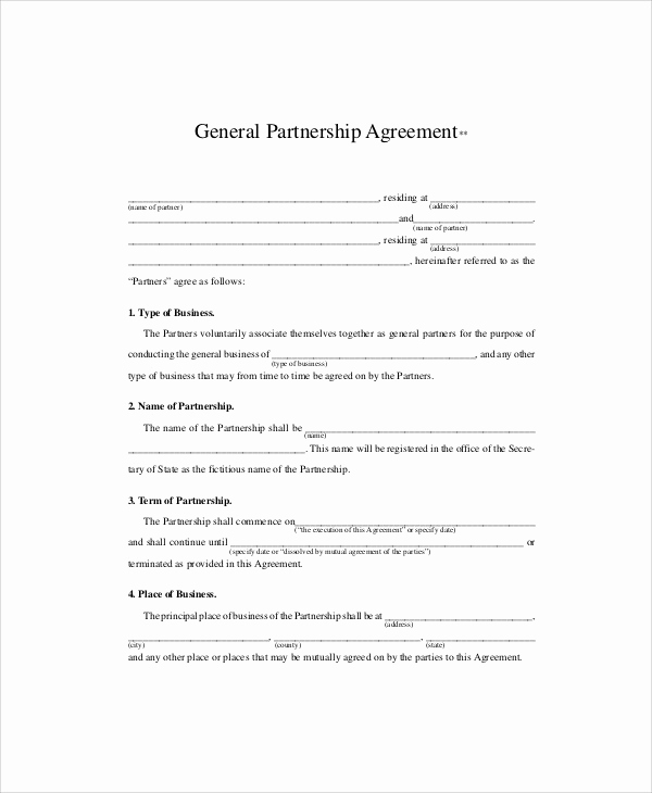 business partnership agreement in pdf
