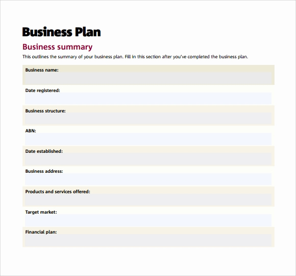 Business Plan Outline Pdf Beautiful Small Business Plan Template 9 Download Free Documents