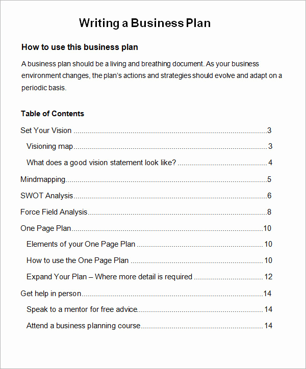 Business Plan Outline Pdf Elegant Business Plan Template 32 Download Free Documents In