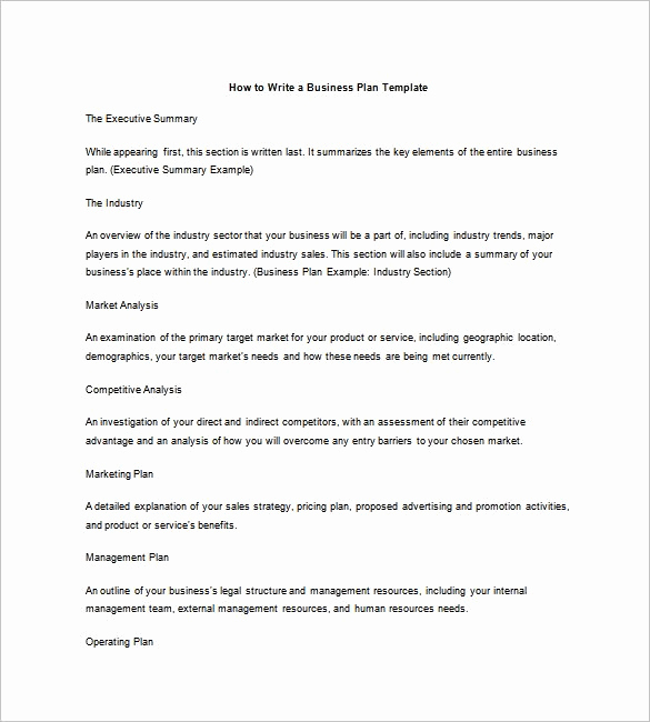 Business Plan Outline Pdf New Business Plan Outline Template 7 Free Word Excel Pdf