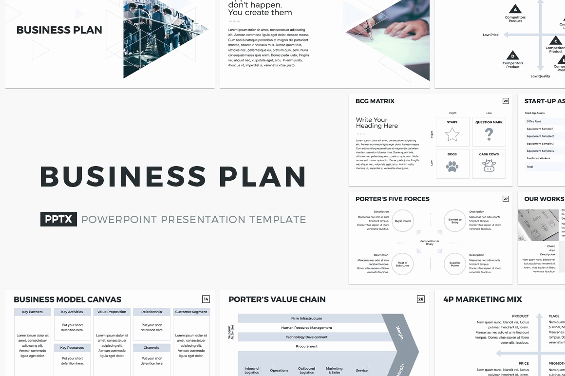 Business Plan Template Examples Luxury Business Plan Powerpoint Template Powerpoint Templates