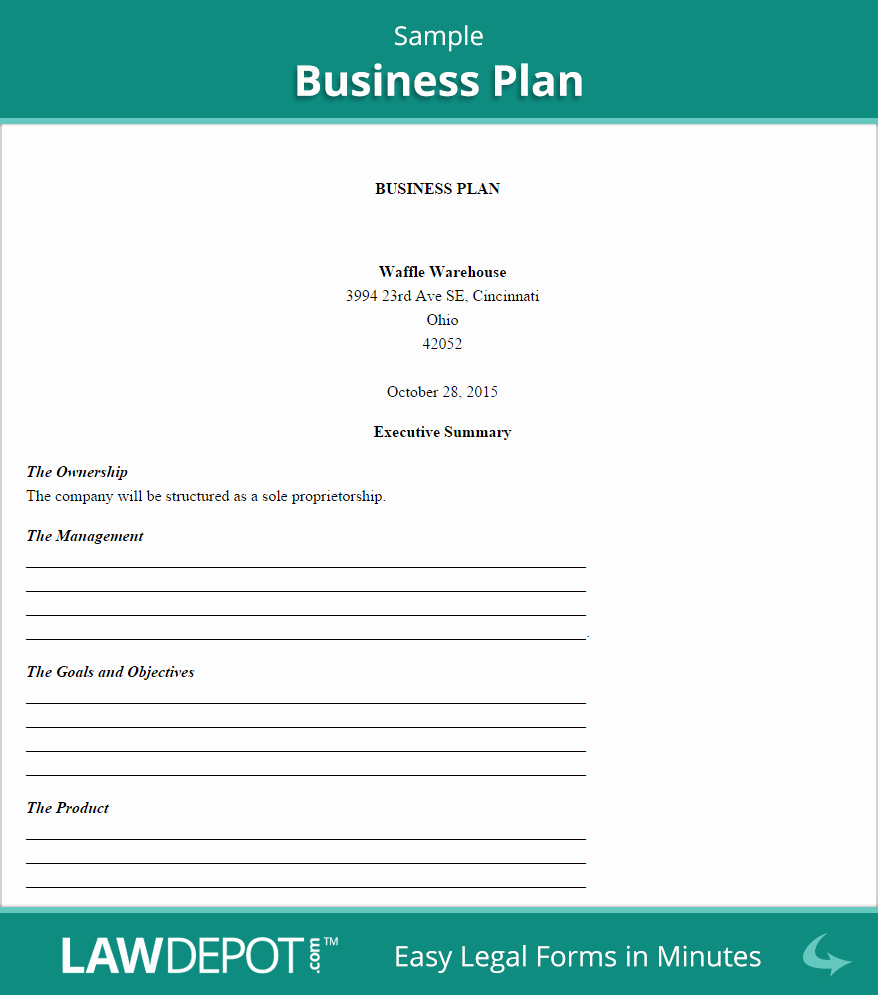 Business Plan Template Examples Unique Business Plan Template