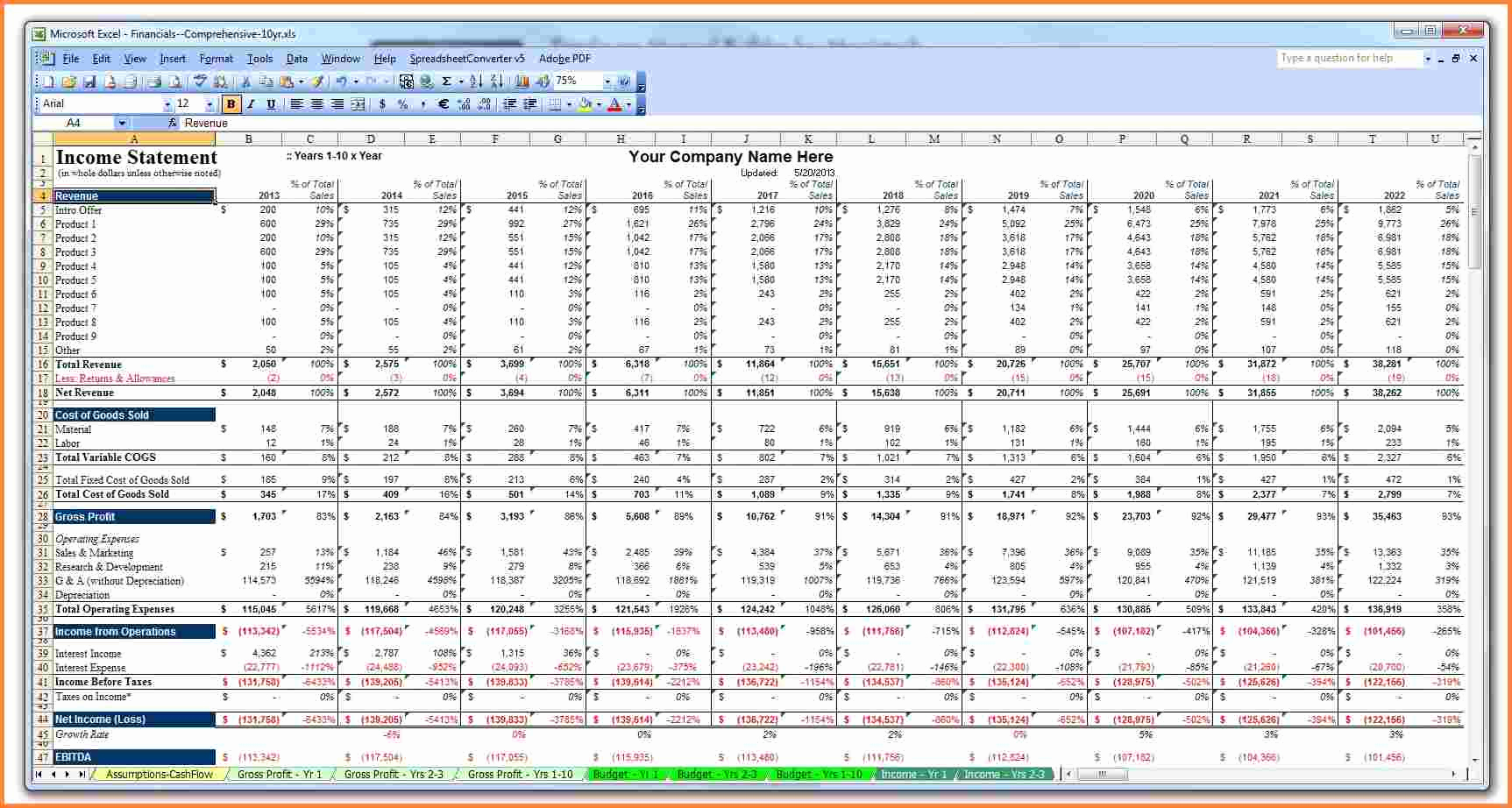 Business Plan Template Excel Awesome 6 Business Plan Spreadsheet Template
