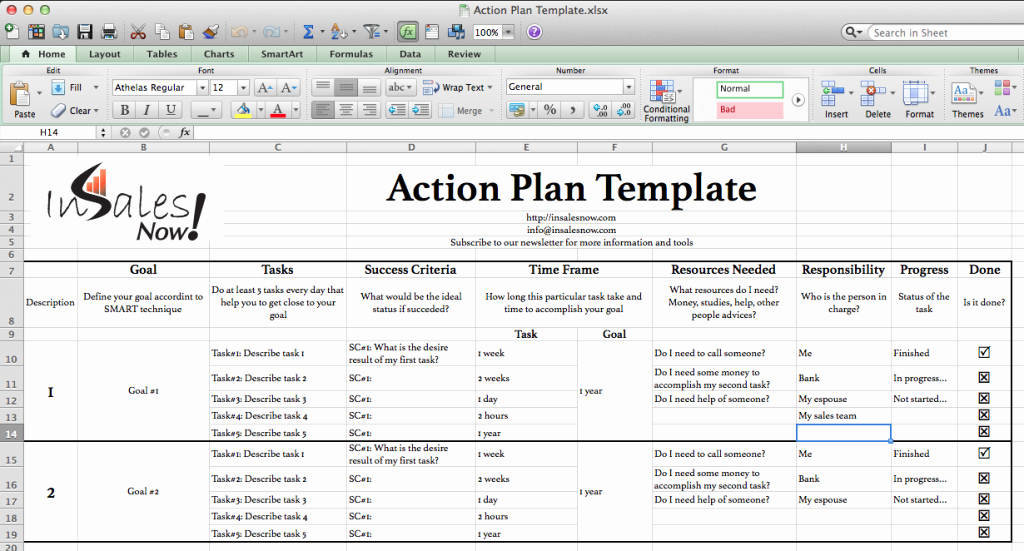 Business Plan Template Excel Beautiful Perfect Business Action Plan Template Example In Excel