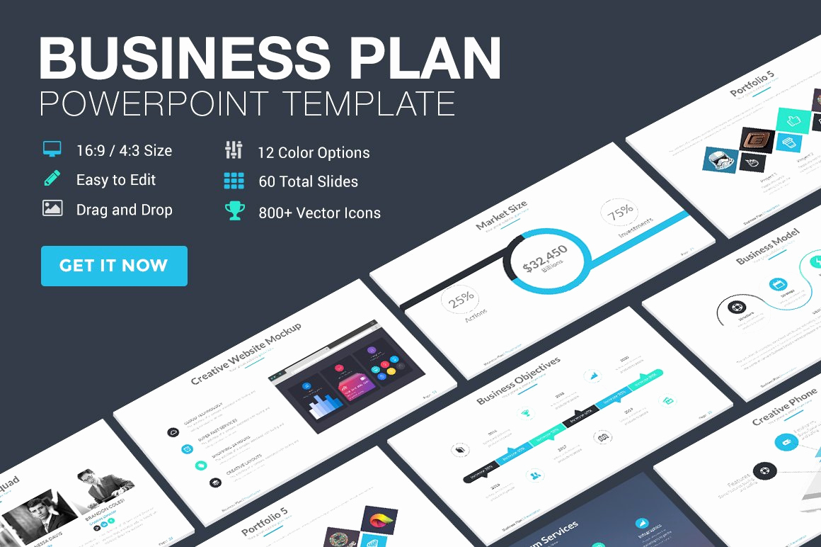Business Plan Template Powerpoint Awesome Business Plan Powerpoint Template Powerpoint Templates