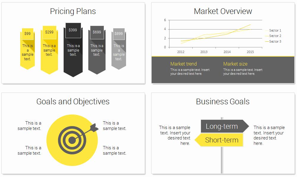 Business Plan Template Powerpoint New Modern Business Plan Powerpoint Template