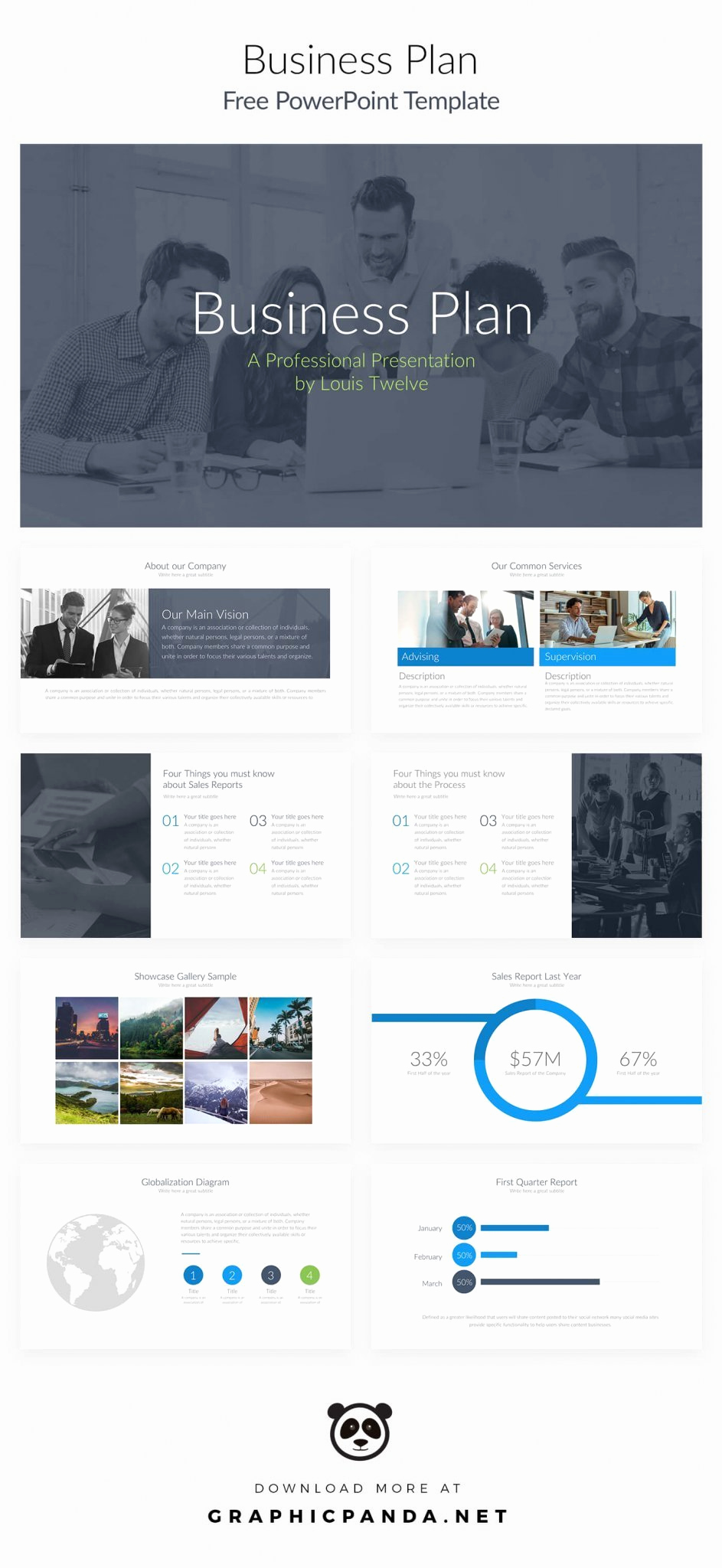 Business Plan Template Powerpoint Unique Free Business Plan Powerpoint Presentation Template