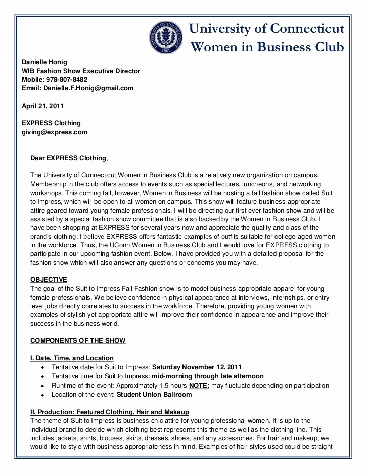 Business Proposal Sample Letter Awesome 6 Sample Business Proposal Letters – Proposal Template