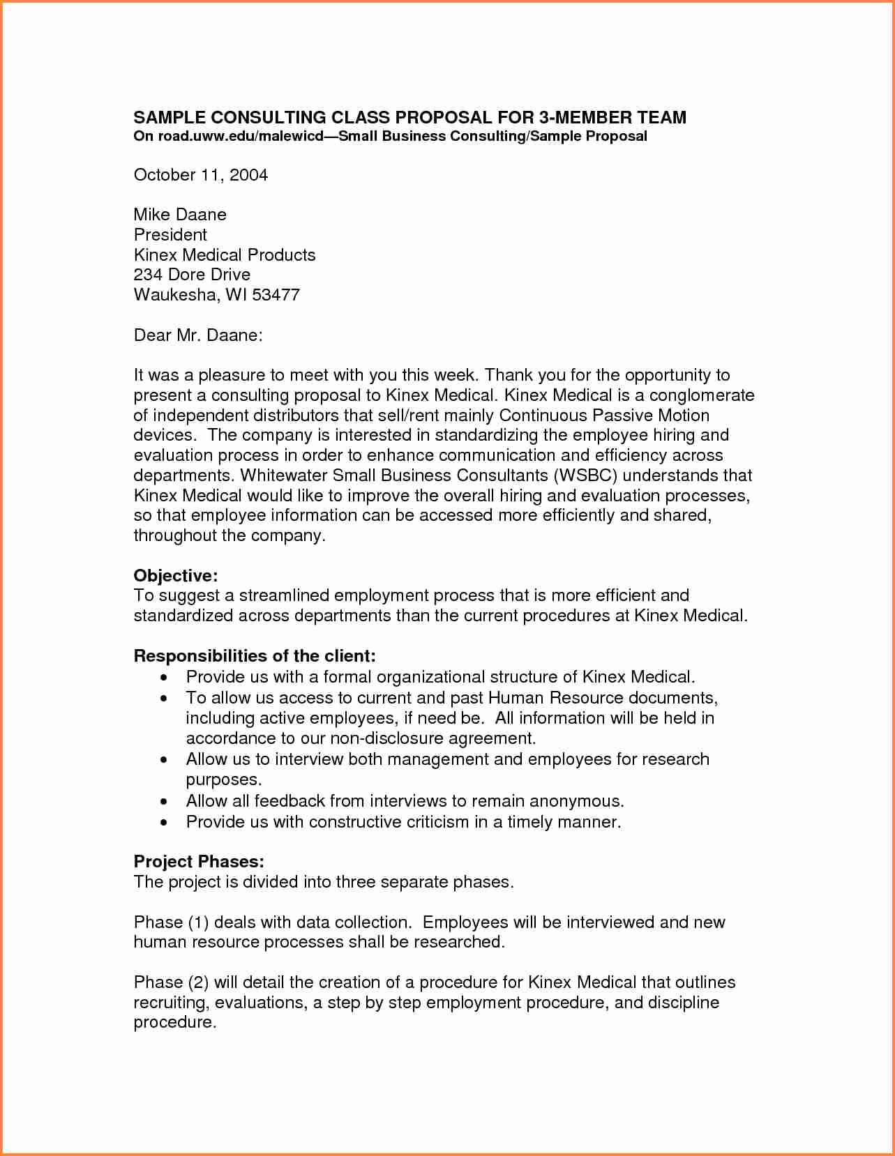 Business Proposal Sample Letter Unique 3 Small Business Proposal Letter