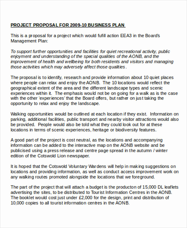 Business Proposal Sample Pdf Best Of 7 Business Project Proposal Templates Word Pdf Pages