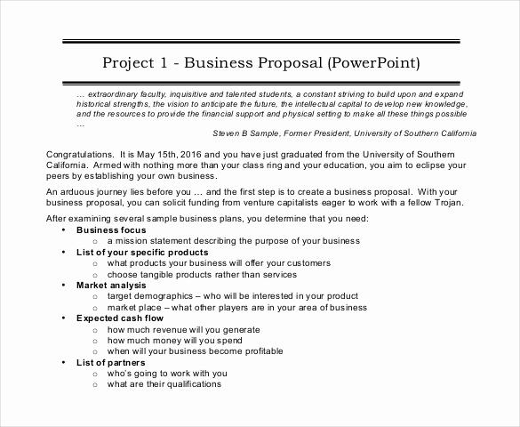 Business Proposal Sample Pdf Elegant 47 Project Proposal Templates Doc Pdf
