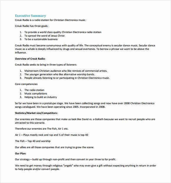 Business Proposal Sample Pdf Inspirational Business Plan Sample Pdf