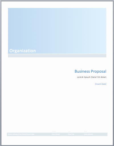 Business Proposal Template Word Beautiful Business Proposal Template – Microsoft Word Templates