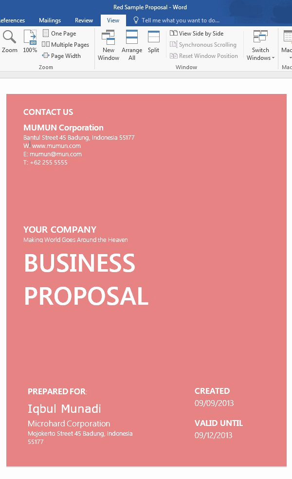 Business Proposal Template Word Best Of How to Customize A Simple Business Proposal Template In Ms