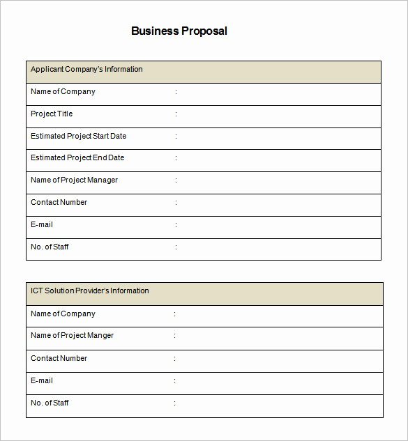 Business Proposal Template Word Fresh 32 Business Proposal Templates Doc Pdf