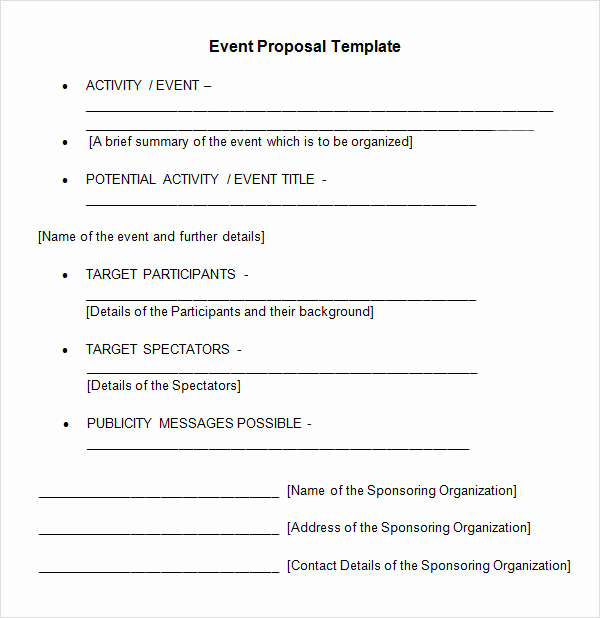 Business Proposal Template Word Lovely 30 Sample event Proposal Templates Psd Pdf Word