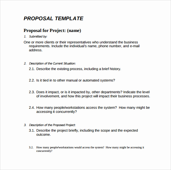 Business Proposal Template Word Luxury 16 Proposal Samples