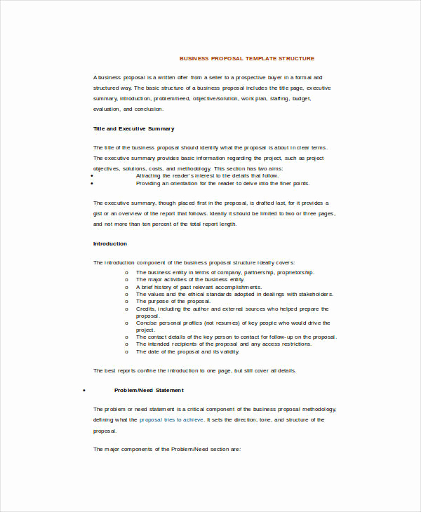 Business Proposal Template Word New 25 Sample Business Proposal Templates In Word