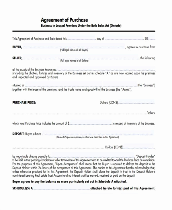 Business Sale Agreement Pdf Best Of 7 Business Purchase Agreement form Samples Free Sample