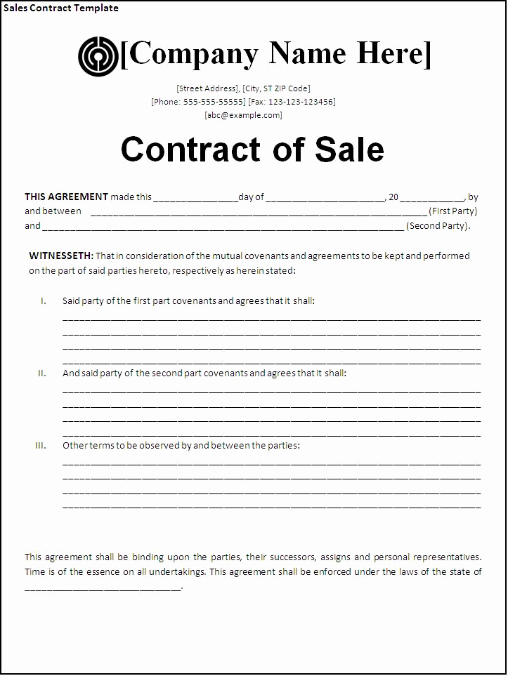 Business Sale Agreement Pdf Best Of Sales Contract Template