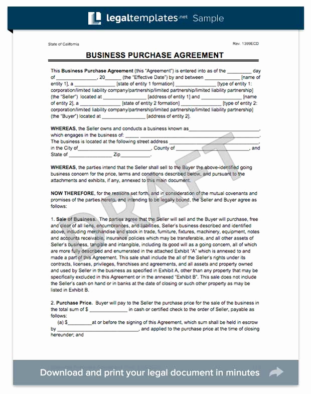 Business Sale Agreement Pdf New Create A Business Purchase Agreement