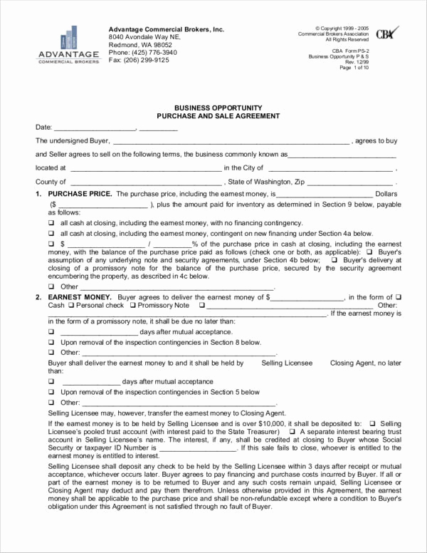 Business Sale Agreement Pdf Unique 7 Business Sale Agreement Samples and Templates – Pdf
