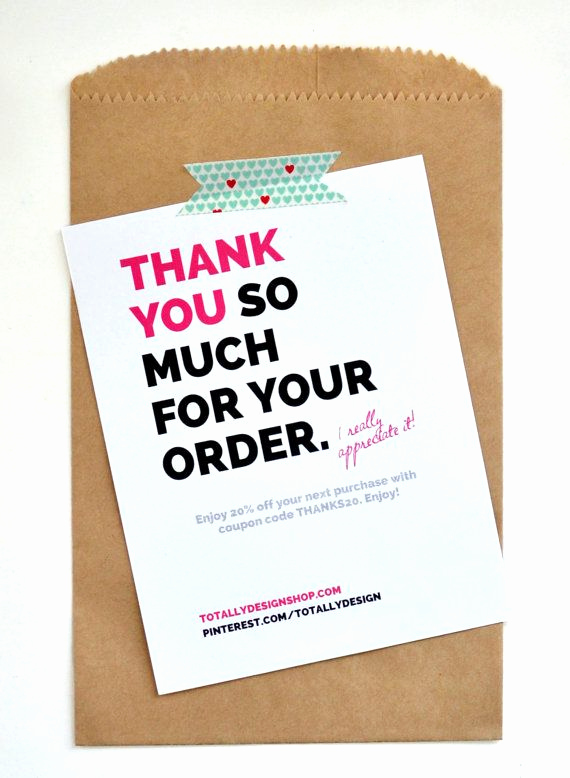 Business Thank You Notes Awesome Great Idea to Include Thank You Cards when You Package Up