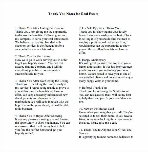 Business Thank You Notes Awesome Sample Business Thank You Note 6 Documents In Pdf Word